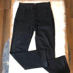 NYDJ Hayden Straight Leg Black Jeans Size 12